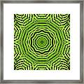 Palm Tree Kaleidoscope Abstract Framed Print