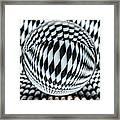 Paper Straw Patterns Framed Print