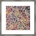 Paris France City Street Map Framed Print