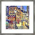 Paris Street Abstract 2 Framed Print