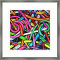 Particle Track Forty-one Framed Print