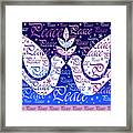 Peace Holiday Card Framed Print