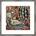 Peacock Among Flowers Framed Print