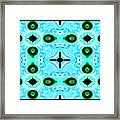 Peacock Feathers Abstract Framed Print