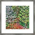 Peggys Garden Framed Print