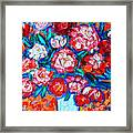 Peonies Bouquet Framed Print