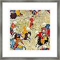 Persian Polo Game Framed Print