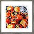Persimmons Framed Print by Nadi Spencer