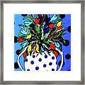 Petals And Dots Framed Print