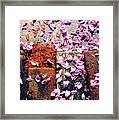 Petals On The Bricks 2 Ae Framed Print