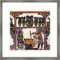 Pharmacy: Arabic Ms Framed Print by Granger