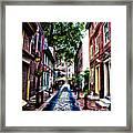 Philadelphia's Elfreth's Alley Framed Print