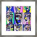 Picasso Blue Women Framed Print by Sandra Silberzweig