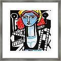 Picasso By Nora  Film Star Framed Print