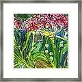 Piinta The Butterfly Flower Framed Print