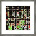 Pine Tree Abstract #3 Framed Print