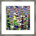 Pine Tree Abstract ,3448wt Framed Print