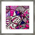 Pink And Purple Abstract Framed Print