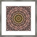 Pink And Yellow Kaleidoscope 1 Framed Print