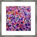 Pink California Splatter Map Framed Print