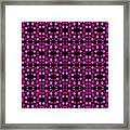 Pink Dots Pattern On Black Framed Print