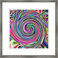 Pink Electric Swirl Framed Print