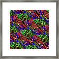 Pinwheel Red Framed Print