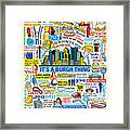 Pittsburghese Framed Print by Ron Magnes