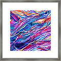 Playful stream Framed Print
