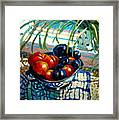 Plumbs And Nectarines Framed Print