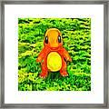 Pokemon Go Charmander - Da Framed Print