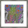 Polka Dot Ganesha Framed Print by Vijay Sharon Govender