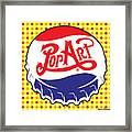 Pop Art Bottle Cap Framed Print