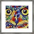Pop Art Owl Face-1 Framed Print