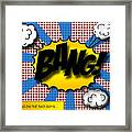 Pop Bang Framed Print by Suzanne Barber
