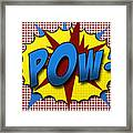 Pop Pow Framed Print