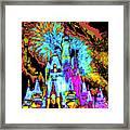 Popart Castle Framed Print