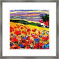 Poppies In The Spring Time.  Framed Print
