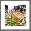 Poppies On Niagara Street Framed Print by David Lloyd Glover