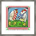 Poultry In Motion Poster Framed Print