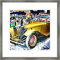 Psychedelic 1930 Jaguar Ss1 At London Classic Car Show 2015 Framed Print