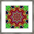 Psychedelic Construct Framed Print