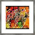 Psychedelic Derby Framed Print