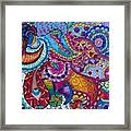 Psychedelic Paisley Framed Print