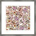 Punk Rock Pattern Framed Print