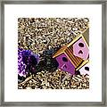 Purple Birdhouses 2 Framed Print