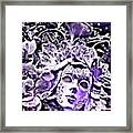 Purple Party Passion Framed Print