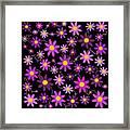 Purple Polka Framed Print