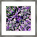 Purple Sea Monster Framed Print