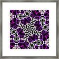 Purple Top Hats Kaleidoscope Framed Print